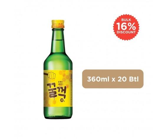 GULP GULP HONEY SOJU | ALC. 9.2% BY VOL. | 360ML X 20BTL | 韩国烧酒(蜜糖口味) | KR