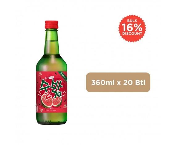 GULP GULP WATERMELON SOJU | ALC. 7.7% BY VOL. | 360ML X 20BTL | 韩国烧酒(西瓜口味)| KR
