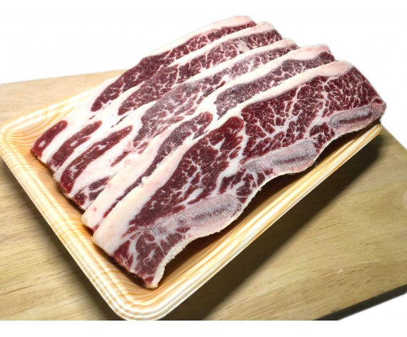 USDA CHOICE BEEF SHORT RIB | BONE IN | 1CM THICK | 1KG/PKT | 牛仔骨切1厘米 | US