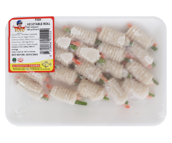 DODO FISH VEGETABLE ROLL | 20PCS/PKT | 嘟嘟牌鱼菜卷 | SG