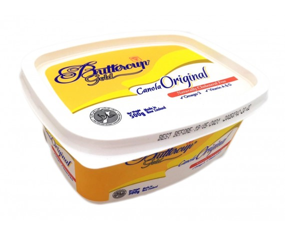 BUTTERCUP GOLD CANOLA ORIGINAL MARGARINE | 500GM/TUB | 盒装人造菜油 | NZ