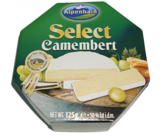 ALPENHAIN SELECT CAMEMBERT CHEESE | 125GM/PKT | 卡门培尔奶酪 | DE