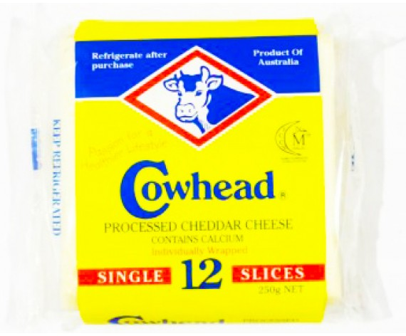 COWHEAD SLICED CHEESE | 12'S | 250GM/PKT | 牛头牌切片乳酪 | AU