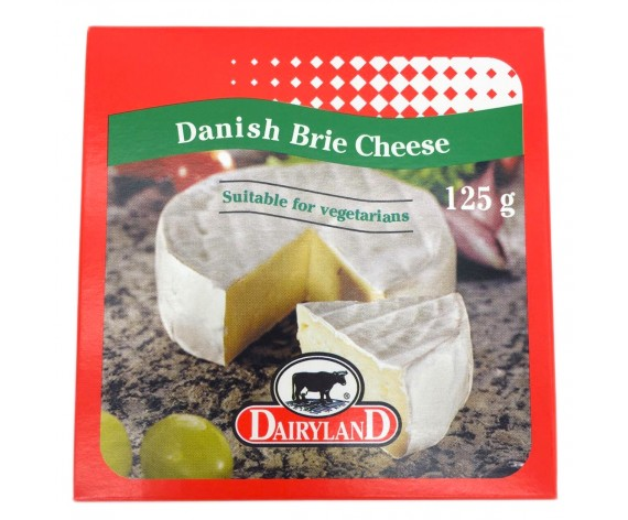 DAIRYLAND VEGETARIAN DANISH BRIE CHEESE | 125GM/PKT | 琪雷萨必然干奶酪 | DK