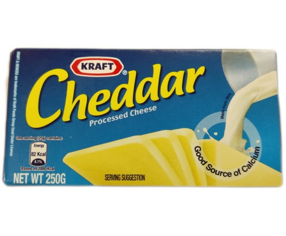 KRAFT CHEDDAR PROCESSED CHEESE (250GM/PKT) 切达奶酪 (AU)