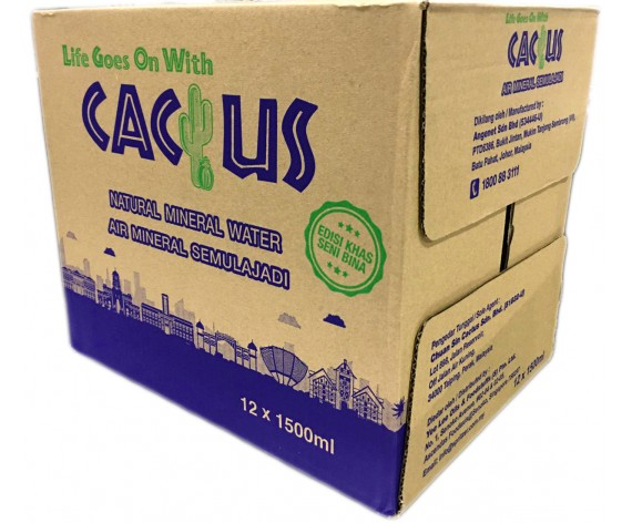 CACTUS NATURAL MINERAL WATER | 12X1500ML/CTN | 仙人掌牌矿泉水 | MY