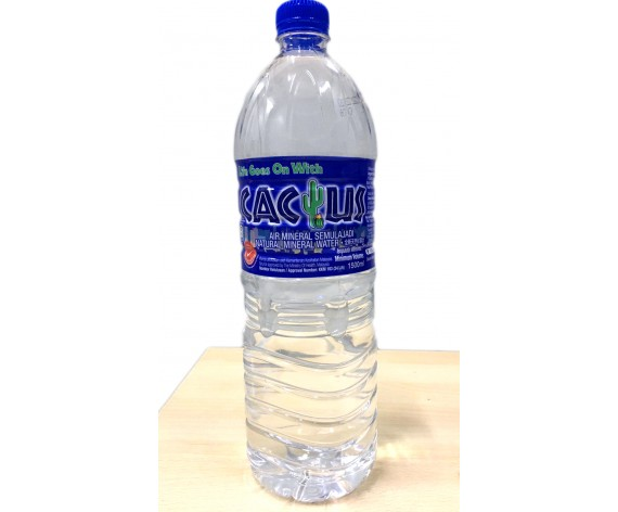 CACTUS NATURAL MINERAL WATER | 2X1500ML/PKT | 仙人掌牌矿泉水 | MY