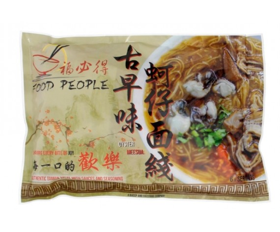 FOOD PEOPLE INSTANT OYSTER MEE SUA    TAIWAN OYSTER VERMICELLI WITH SAUCE   300GM/PKT   即食台湾古早味蚵仔面线 (有料包)   TW