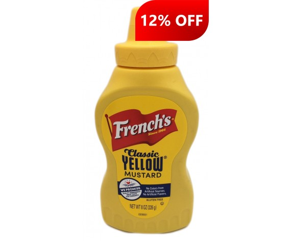 FRENCH'S CLASSIC YELLOW MUSTARD | 8OZ | 226GM/BTL | 美式黄芥末酱 | US (OG PRICE: $4.35)