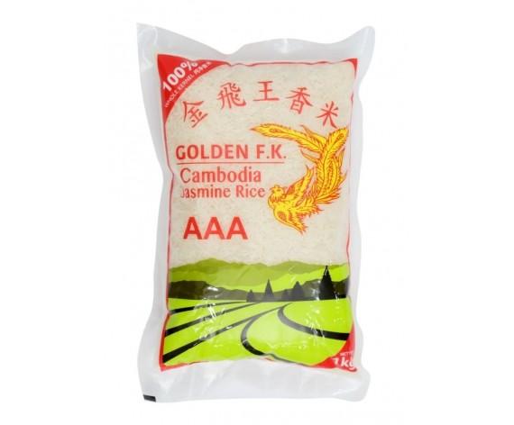 GOLDEN F.K. JASMINE RICE | AAA | 1KG/PKT | 柬埔寨金飞王香米 | KH