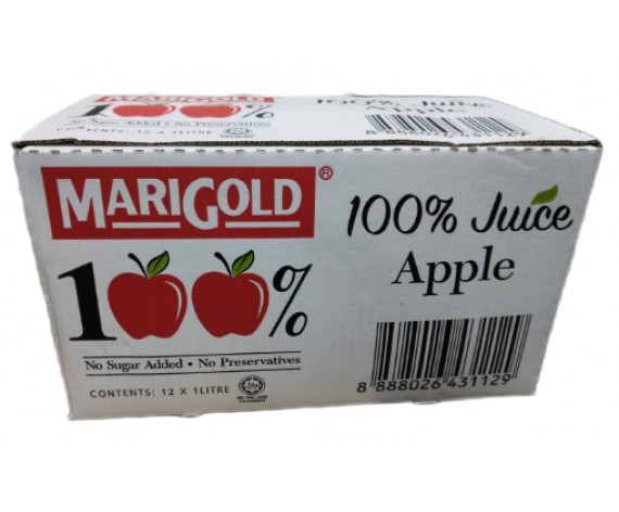 MARIGOLD 100% APPLE JUICE (12X1L) 万寿菊100%苹果包汁 (MY)