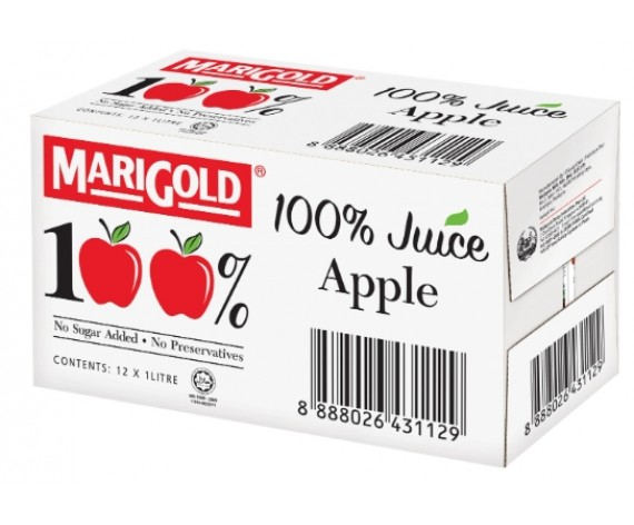 MARIGOLD 100% APPLE JUICE | 12X1L/CTN | 万寿菊100%苹果包汁 | MY