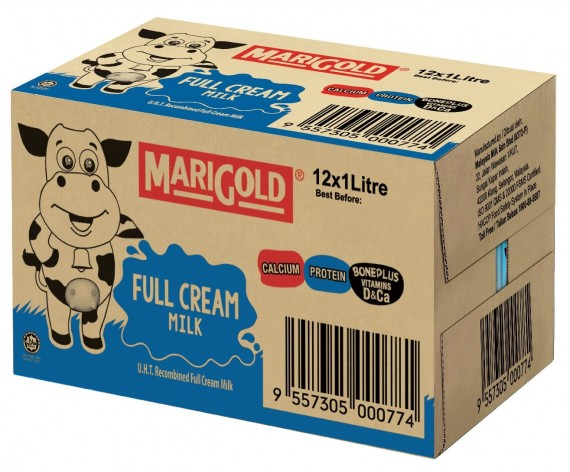 MARIGOLD FULL CREAM UHT MILK | 12X1L/CTN | 全脂牛奶 | MY