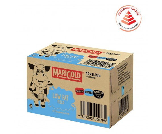MARIGOLD LOW FAT UHT MILK | 12X1L/CTN | 低脂牛奶 | MY