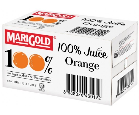 MARIGOLD 100% ORANGE JUICE | 12X1L/CTN | 万寿菊100%橙汁 | MY