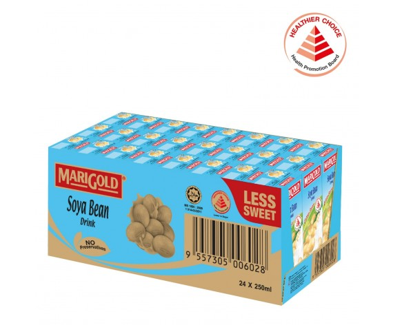 MARIGOLD SOYA BEAN DRINK | LESS SWEET | 24X250ML/CTN | 大豆饮料 | MY