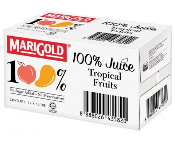 MARIGOLD 100% TROPICAL FRUITS JUICE | 12X1L/CTN | 万寿菊100% 热带水果汁 | MY