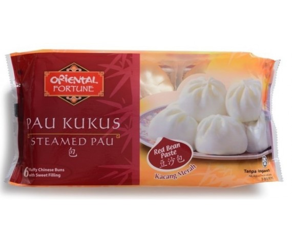 ORIENTAL FORTUNE STEAMED RED BEAN PAU | 6PCS | 330GM/PKT | 小豆沙包 | MY