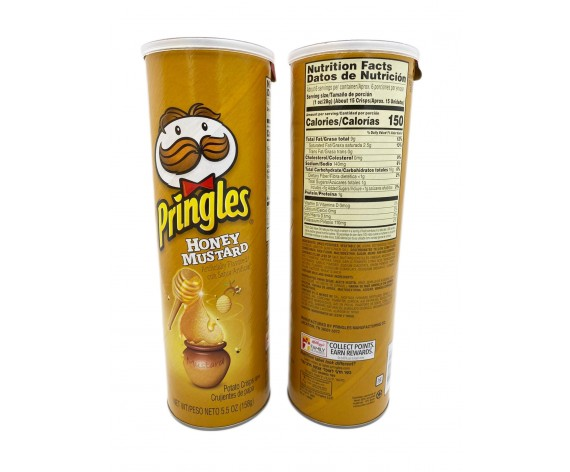 PRINGLES POTATO CRISPS | HONEY MUSTARD | 158GM/TUB | 品客蜂蜜芥末味薯片 | US