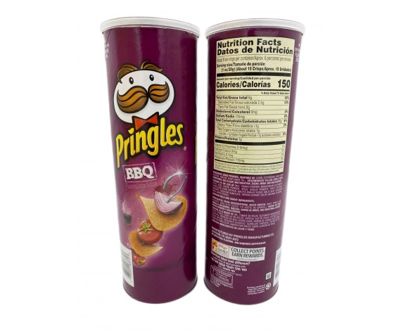 PRINGLES POTATO CRISPS | SMOKY BBQ | 158GM/TUB | 品客烧烤味薯片 | US