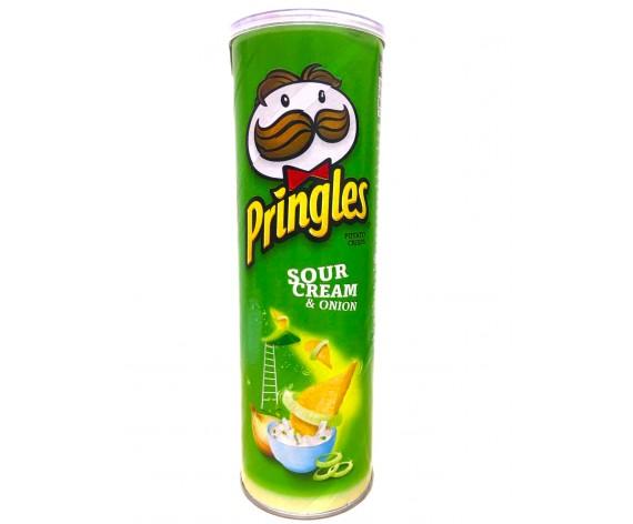 PRINGLES POTATO CRISPS | SOUR CREAM & ONION | 110GM/TUB (SINGLE) | 品客酸奶油洋葱味薯片 | MY