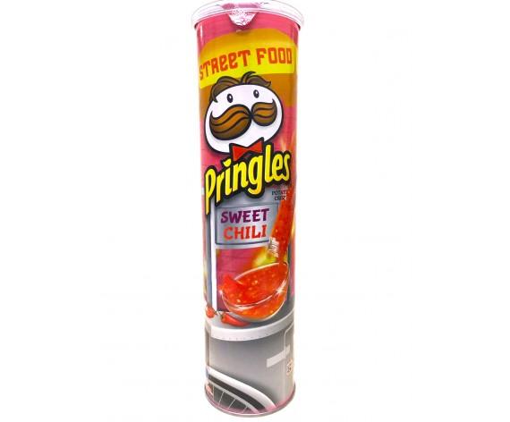 PRINGLES POTATO CRISPS | SWEET CHILI | 147GM/TUB (SINGLE) | 品客甜辣味薯片 | MY