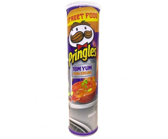 PRINGLES POTATO CRISPS | TOM YUM (SONG KREUNG) | 147GM/TUB (SINGLE) | 品客冬蔭(泰式酸辣)味薯片 | MY