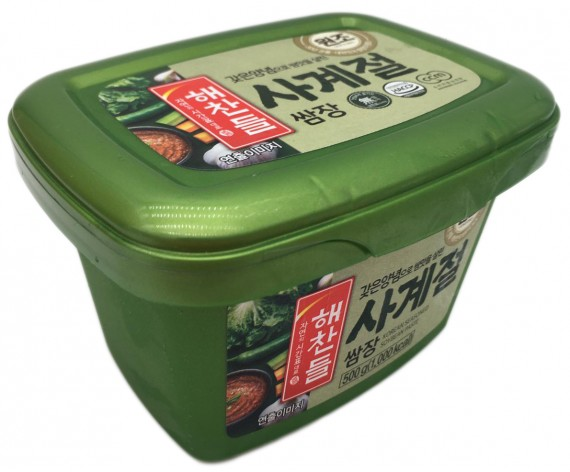 HAE CHAN DEUL SSAMJANG | SEASONED SOY BEAN PASTE | 500GM/TUB | 韩国包饭酱 | KR