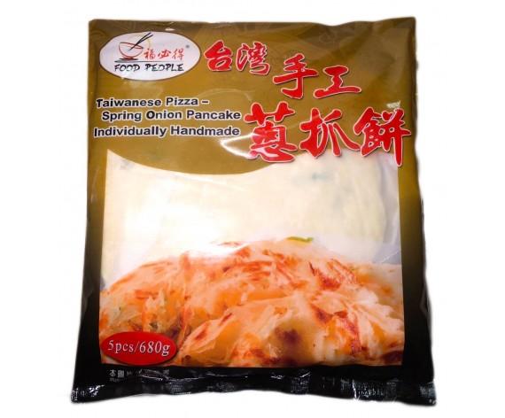 FOOD PEOPLE TAIWANESE PIZZA | SPRING ONION PANCAKE | 5PCS | 680GM/PKT | 福必得台湾手工葱抓饼 | TW