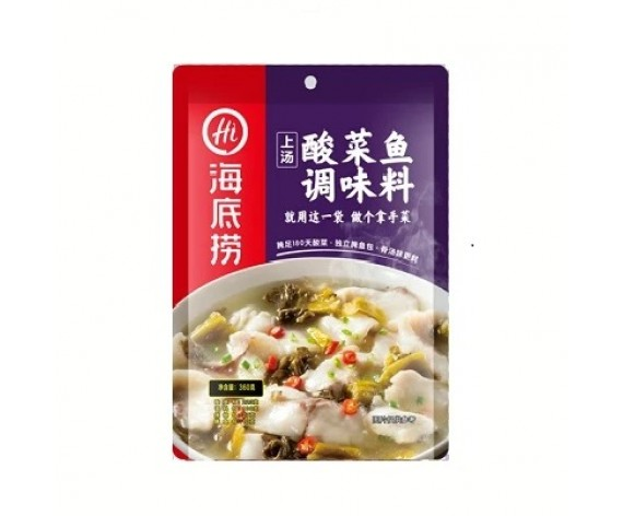 HAI DI LAO FISH SEASONING | SOUR MUSTARD GREEN | 360GM/PKT | 海底捞上汤酸菜鱼调味料 | CN