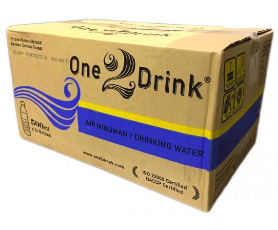 ONE 2 DRINK DRINKING WATER | 24X500ML/CTN | 饮用水 | MY