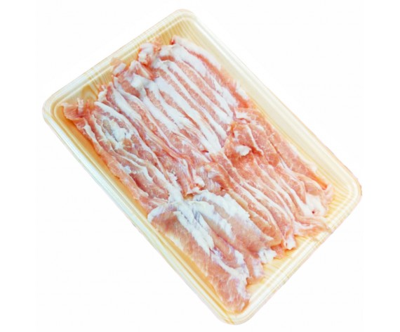 PORK JOWL SLICED (FAT TRIMMED) (300GM/PKT) 猪脸肉切片(脂肪稍微处理) (IE)