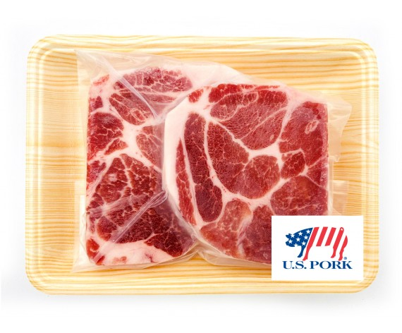 PREMIUM USA PORK COLLAR SLICED | KBBQ STYLE | 2CM | 500GM/PKT | 上等美国猪颈肉切2厘米(韩式烤肉专用) | US