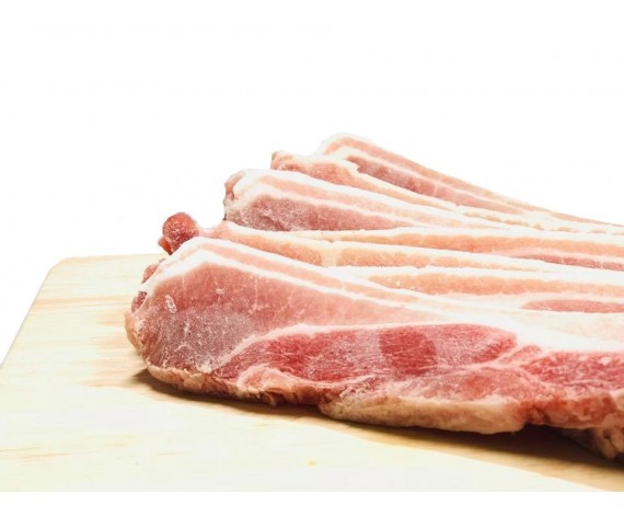 PORK BELLY SKINLESS SLICED (0.4CM) (1KG/PKT) 去皮三层肉切片