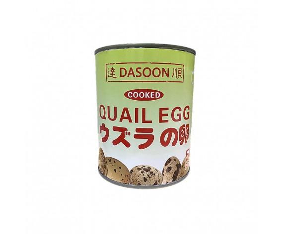 DASOON COOKED QUAIL EGGS IN TIN | 50PCS/TIN | 罐装达顺水煮熟鹌鹑蛋 | VT