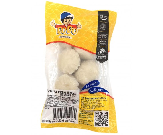 DODO FUZHOU FISH BALL | 6PCS | 150GM/PKT | 嘟嘟牌福州鱼丸 | SG
