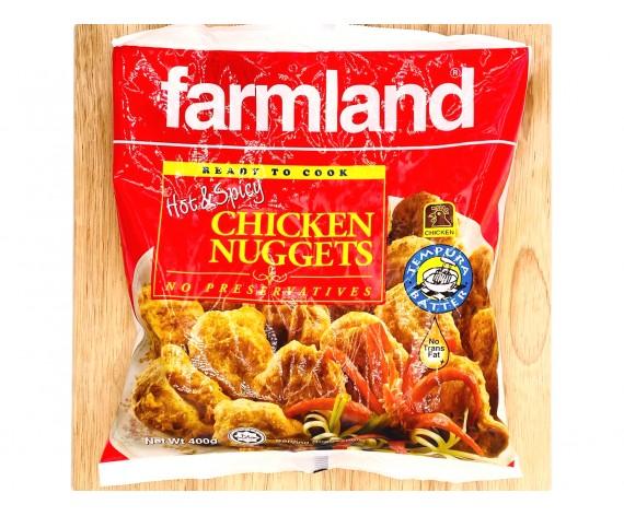 FARMLAND HOT & SPICY TEMPURA CHICKEN NUGGETS | 400GM | 香辣炸鸡块 | MY