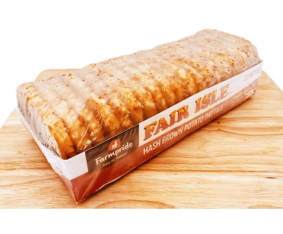 FARMPRIDE HASH BROWN | POTATO PATTIES | HALAL | 20PCS | 1.2KG | 马铃薯饼 | CA