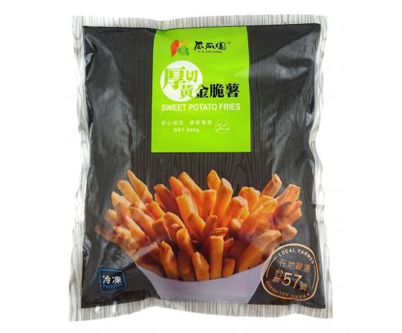 FROZEN SWEET POTATO FRIES | THICK CUT | 600GM/PKT | 瓜瓜園台湾厚切黄金脆薯 | TW