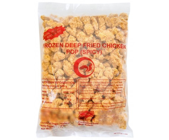 PANUS BRAND FROZEN POPCORN CHICKEN | SPICY | COOKED | 1KG/PKT | 冷冻爆米鸡(辣味) | TH