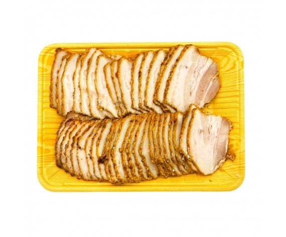 MARINATED PORK BELLY SLICED  | MALA  | SKINLESS  | 0.3CM  | COOKED | 500GM/PKT | 去皮麻辣猪三层肉切片 | SG