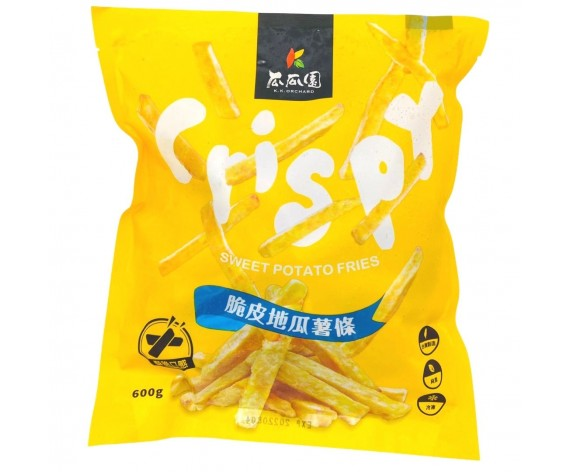 FROZEN SWEET POTATO FRIES   THICK CUT   600GM/PKT   瓜瓜園台湾厚切黄金脆薯   TW