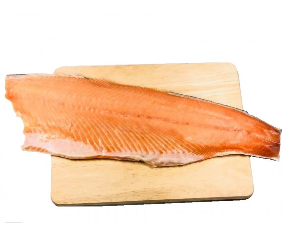 SALMON FISH FILLET   WHOLE   SKIN ON   1.0-1.40KG/PC   带皮三文鱼   CL   $23.00/KG
