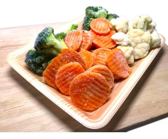 AL AFIYAH CHINESE STYLE MIXED VEGETABLES | BROCCOLI | CAULIFLOWER | CARROTS | 1KG/PKT | 中式三色杂菜 | CN